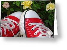 Red Sneakers Greeting Card