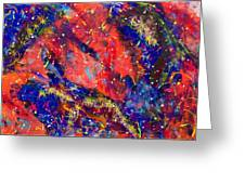 Red Space 15-13 Greeting Card