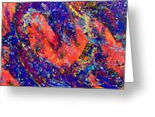 Red Space Glitter 15-15 Greeting Card