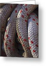 Red Speckled Rope Greeting Card