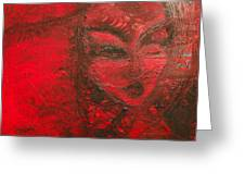 Red Stain Greeting Card
