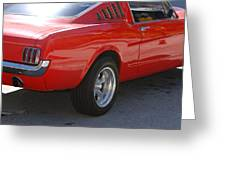 Red Stang Greeting Card