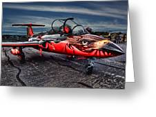 Red Star Viper Russian Side Greeting Card