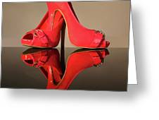 Red Stiletto Shoes Greeting Card