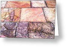 Red Pavement. Greeting Card