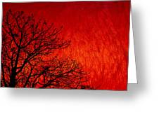 Red Storm Greeting Card