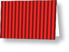 Red Striped Pattern Design Greeting Card