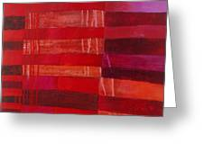 Red Stripes 2 Greeting Card