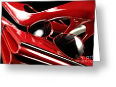 Red Stylish Accessories Greeting Card