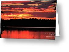 Red Summer Eve Greeting Card