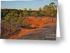 Red Sunset Cliffs Greeting Card