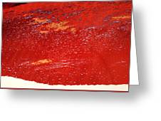 Red Surf On The Beach Greeting Card