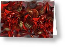 Red Swarm Greeting Card