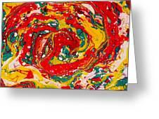 Red Swirl Greeting Card