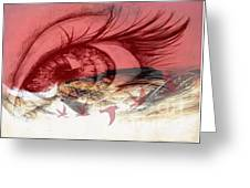 Red Tears Greeting Card