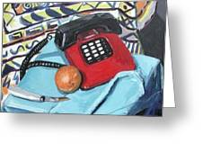Red Telephone Greeting Card