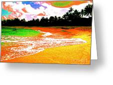 Red Tide Green Tide Greeting Card