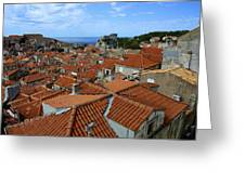 Red Tiled Roofs Of Dubrovnik Greeting Card