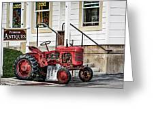 Red Tracktor Greeting Card