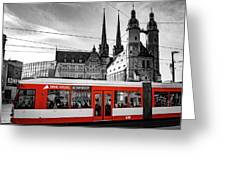 Red Train Greeting Card