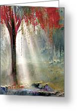 Red Tree 1  Greeting Card