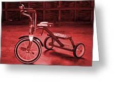 Red Trike Greeting Card
