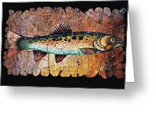 Red Trout Fresco Greeting Card