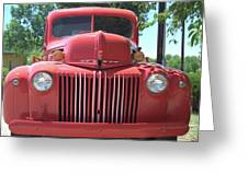 Red Truck Greeting Card