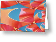 Red Tubes Greeting Card
