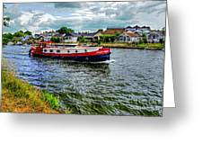 Red Tug Boat Greeting Card