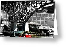 Red Tug On Cuyahoga River Greeting Card
