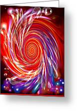 Red Twirl Greeting Card