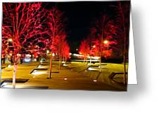 Red Urban Trees Greeting Card