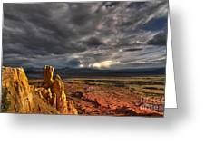 Red Valley Greeting Card