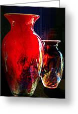 Red Vase Greeting Card
