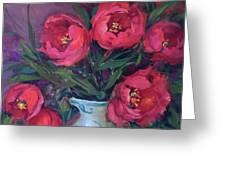Red Velvet Tulips Greeting Card