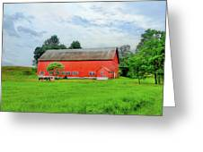 Red Vermont Barn Greeting Card