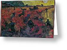 Red Vineyards  Greeting Card