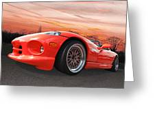 Red Viper Rt10 Greeting Card