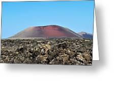 Red Volcano Greeting Card