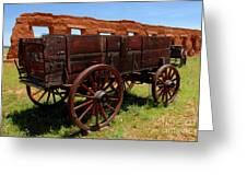 Red Wagon Greeting Card