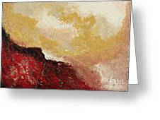 Red Waves Greeting Card