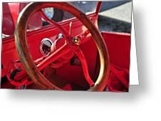 Red Wheel Greeting Card
