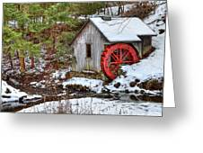 Red Wheel Greeting Card