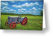 Red Wheels Greeting Card