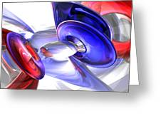 Red White And Blue Abstract Greeting Card