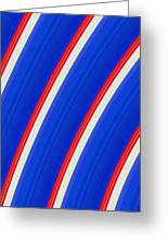 Red White And Blue Greeting Card