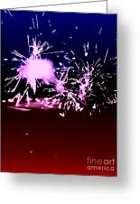 Red White And Blue Fireworks Greeting Card