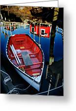 Red White And Blue Greeting Card by Ron St Jean