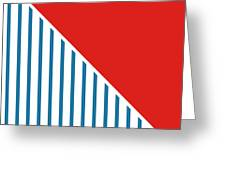 Red White And Blue Triangles 2 Greeting Card